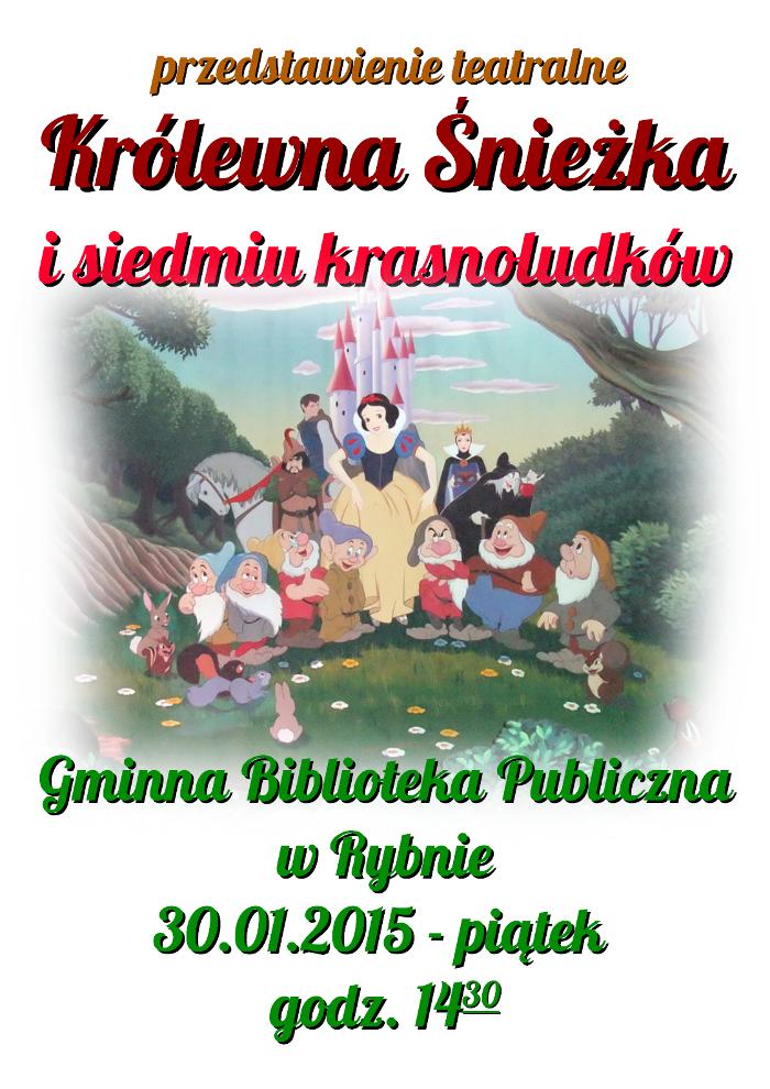 spektakl teatralny królewna śnieżka i siedmiu krasnoludków 2014.01.30
