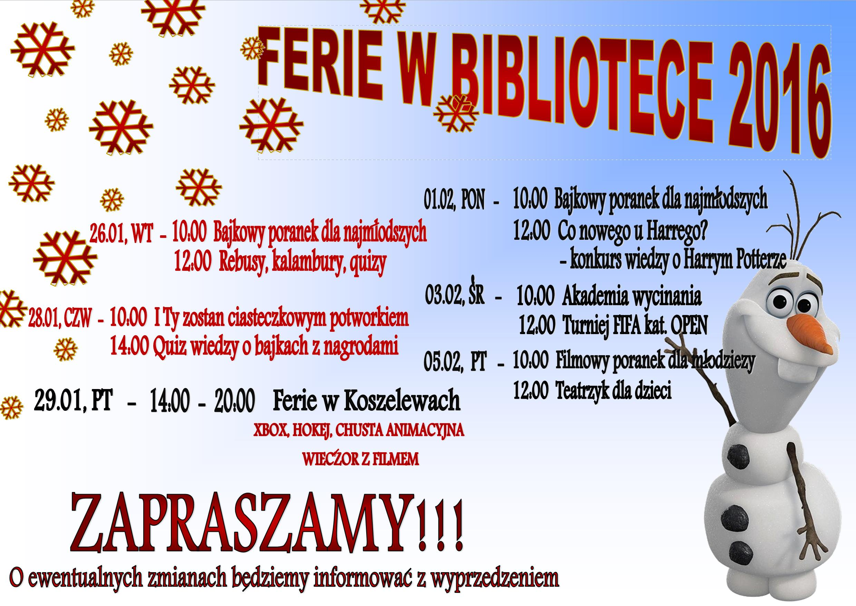 FERIE W BIBLIOTECE - Kopia +