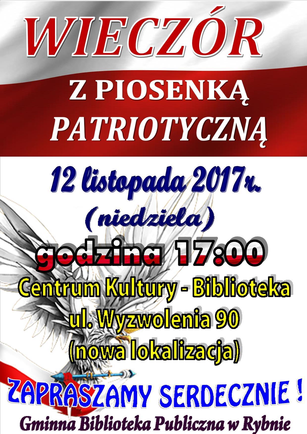 plakat koncert patriotyczny