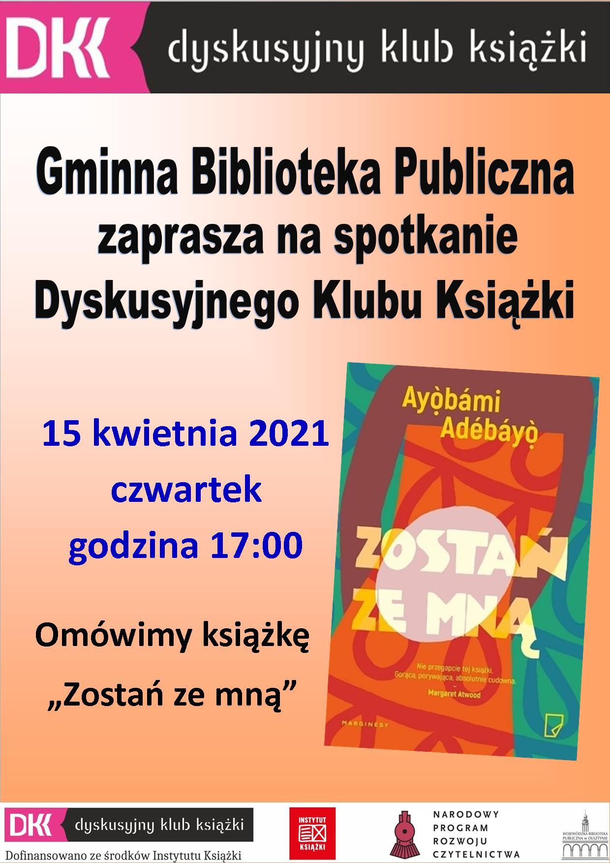 plakat informujący o kolejnym spotkaniu DKK