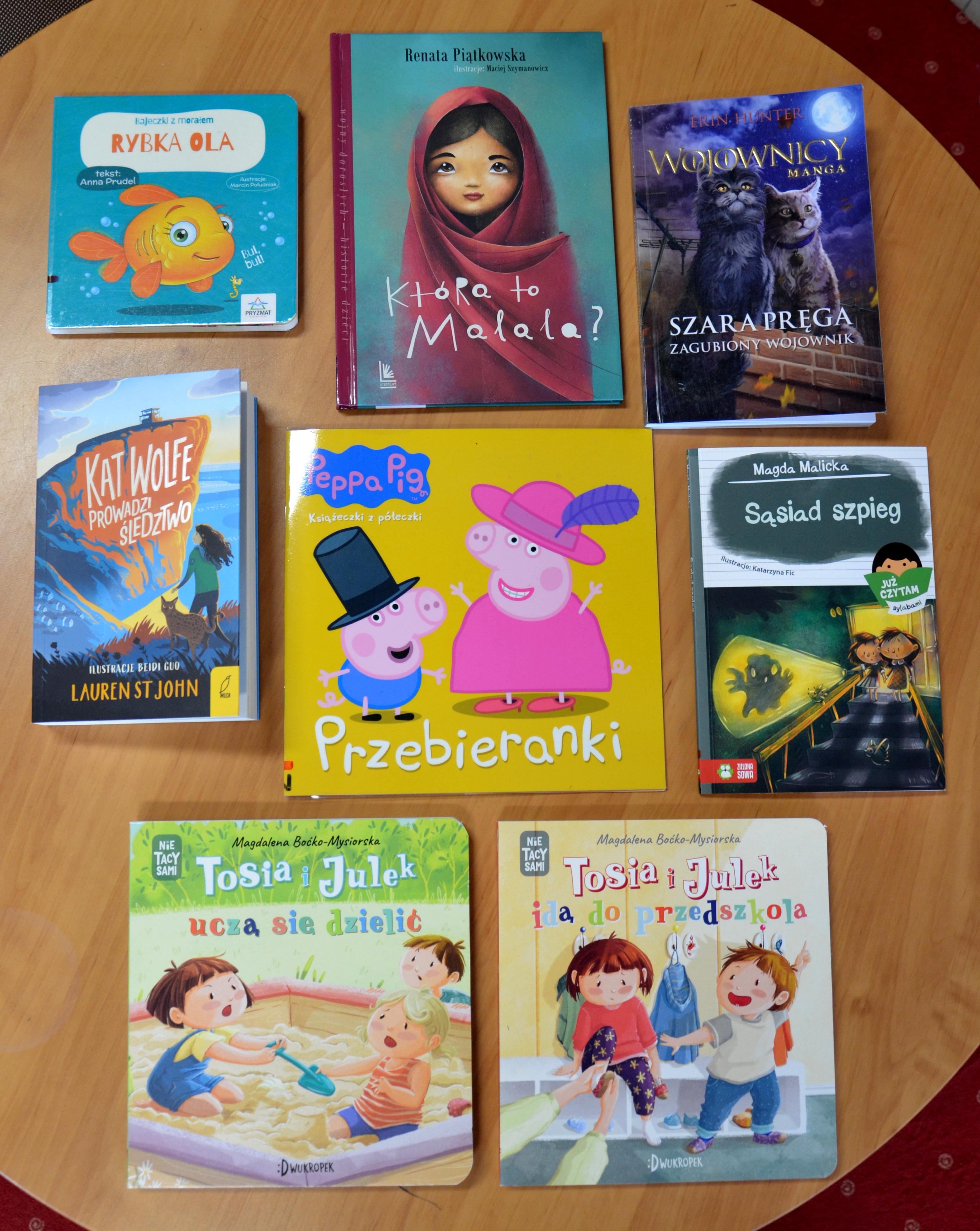zdjęcie przedstawiające zakup nowości czytelniczych dla dzieci