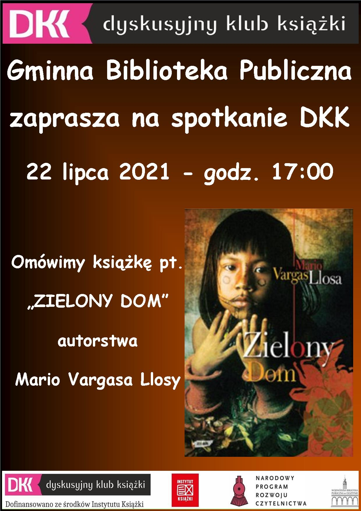 plakat informujący o spotkaniu DKK